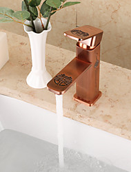 Contemporary Innovative Design Chinese Style Brass  Bathroom Sink Faucet
