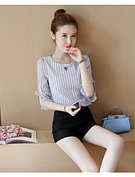 Damen Einfach Shirt Hose Anzüge,Rundhalsausschnitt Sommer ½ Ärmel