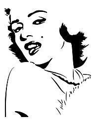 Komiks Módní Lidé Samolepky na zeď Samolepky na stěnu Ozdobné samolepky na zeď,Vinyl Materiál Home dekorace Lepicí obraz na stěnu