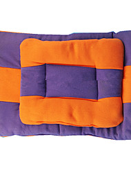 Dog Bed Pet Mats & Pads Color Block Keep Warm Double-Sided Soft Durable Purple Orange