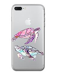 Para el iphone 7 más el caso transparente de la cubierta trasera del patrón de la cubierta del caso 7 animal tpu suave para 6s más 6s 6