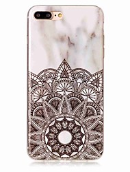 Para iPhone X iPhone 8 Carcasa Funda IMD Cubierta Trasera Funda Mandala Mármol Suave TPU para Apple iPhone X iPhone 8 Plus iPhone 8