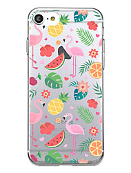 Pour iphone 7 plus 7 housse couverture ultra mince back cover case flamingo soft tpu pour iphone 6s plus 6 plus 5s 5
