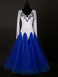 Danse de Salon Femme Spandex Applique Fantaisie 1 Pièce Manche longue Taille haute Robes