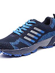 Men's Athletic Shoes PU Spring Summer Low Heel Black Purple Ruby Green Blue Under 1in
