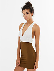 Women's Backless Sexy Bodycon Casual Dress (Spandex/Polyester)