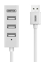 Unitek y-2146bwh usb2.0 высокая скорость 4-портовый концентратор белый индикатор с кабелем 30 см