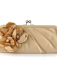 L.WEST Women's top Silk fold flowers lady carry bag