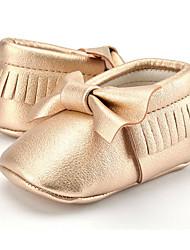 Niños Bebé Zapatos de taco bajo y Slip-Ons Primeros Pasos Microfibra Otoño Invierno Casual Vestido Fiesta y Noche Primeros PasosPajarita