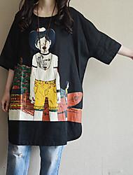 T-shirt Da donna Casual SempliceCon stampe Rotonda Cotone Mezze maniche