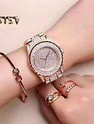 Mulheres Relógio Elegante Relógio de Moda Relógio de Pulso Único Criativo relógio Simulado Diamante Relógio Chinês Quartzo / StrassAço