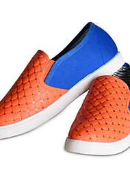 Damen Flache Schuhe Komfort Stoff Frühling Lässig Orange Flach