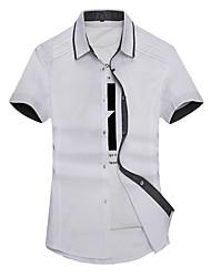 Men's Business Daily Casual Simple Summer Shirt,Others Shirt Collar Short Sleeve Cotton Medium