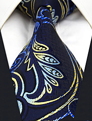 CXL15 New Unique For Mens Neckties Extra Long Handmade Navy Blue Paisley 100% Silk Fashion Dress Casual