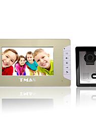 """tmax® 7 """"porteiro da entrada da porta de vídeo lcd telefone campainha casa com 500tvl câmera de visão noturna"""