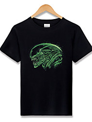 Alien T-shirt Costumes de Cosplay Sweatshirts Mangas Ange et Diable Esprit Monstre Déguisements Thème Film/TV Cosplay de Film Tee-shirtHalloween