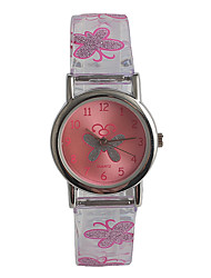 Kids' Fashion Watch Japanese Japanese Quartz / Stainless Steel Plastic Band Casual Pink