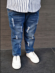 Para Meninas Jeans Cor Única
