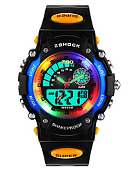 Kid's Fashion Watch Digital Plastic Band Black
