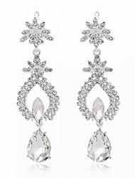 The New-style Water Drop Flower Earrings