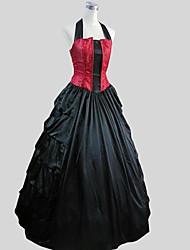 Costumes de Cosplay Costume de Soirée Bal Masqué Gothique Victorien Cosplay Vêtrements Lolita Couleur Pleine Jacquard Sans Manches