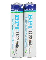 Bateria recarregável bpi aaa 1.2v 1100mah