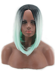 Cosmother Wigs Europe and America Popular Wigs Green  Sub - BOBO Straight Hair Wigs 12inch