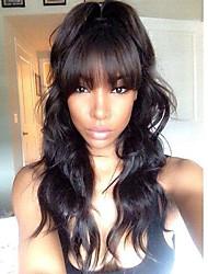 Hot body wave brésilien pleine dentelle perruques en dentelle pour cheveux humains avec des bandes pour femmes noires 130% densité