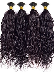 Indian Water Wave Virgin Hair Curly Human Braiding Hair Bulk Curly No Weft Human Hair for Micro Braids Natural Black 4 Pcs lot