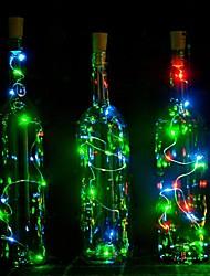 1pcs 2m 20 led en liège en forme de led nuit étoilée léger bouchon de fil de cuivre bouteille de vin décoration de lampe décoration cool
