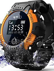 Smart Watch Montre numérique Numérique Etanche Montre GPS Communication Caoutchouc Bande Pour tous les jours Noir