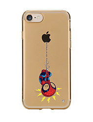 Para iPhone X iPhone 8 Carcasa Funda Transparente Diseños Cubierta Trasera Funda Logo Playing With Apple Caricatura Suave TPU para Apple