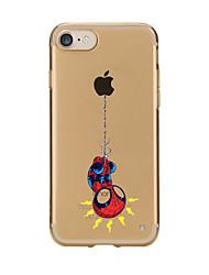 Назначение iPhone X iPhone 8 Чехлы панели Прозрачный С узором Задняя крышка Кейс для Композиция с логотипом Apple Мультипликация Мягкий