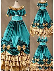 Uma-Peça/Vestidos Gótica Lolita Cosplay Vestidos Lolita Vintage Concha Manga 3/4 Comprido Vestido Para Outro