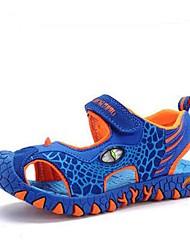Para Meninos Sandálias Conforto Shoe luminous Pele Verão Casual Esportes Conforto Shoe luminous Estampa Animal RasteiroCinzento Escuro