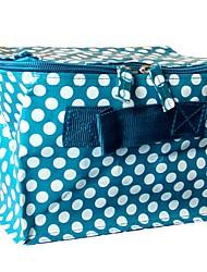 Women Cosmetic Bag Plastic All Seasons Casual Formal Office & Career Square Zipper Azure