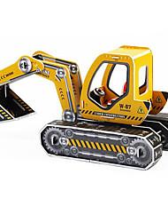 Quebra-cabeças Quebra-Cabeças 3D Blocos de construção Brinquedos Faça Você Mesmo Maquina de Escavar Papel
