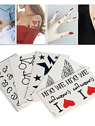 5PCS Random Mix Model A one-Time Waterproof Tattoo Stickers