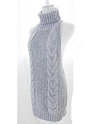 Knit/Cutsew Sweet Lolita Lolita Cosplay Lolita Dress Black Gray Blue Solid Color Sleeveless Lolita Top For Wool