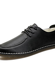 Men's Oxfords Formal Shoes Comfort Leather All Seasons Casual Office & Career Party & Evening Formal Shoes Comfort Lace-up Flat HeelGray