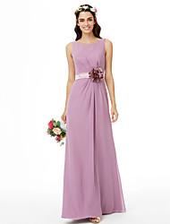 2017 LAN TING BRIDE Floor-length Jewel Bridesmaid Dress - Beautiful Back Floral Sleeveless Chiffon