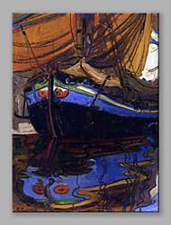 Pintados à mão Paisagens Abstratas Vertical,Contemprâneo Abstracto 1 Painel Tela Pintura a Óleo For Decoração para casa