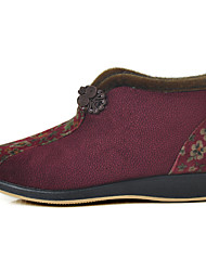 Women's Flats Retro Customized Materials Fall Winter Casual Flat Heel Pool Ruby Flat