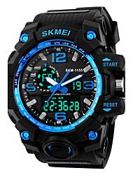 SKMEI Мужской Спортивные часы электронные часы Цифровой силиконовый Группа Черный