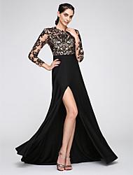 Linea-A Con decorazione gioiello Strascico a terra Jersey Serata formale Vestito con Con applique di TS Couture®