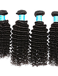 Vinsteen Indian Deep Wave Hair Weave 4Pcs 100% Unprocessed Human Hair Extensions Natural Color Human Hair Weave For Black Women