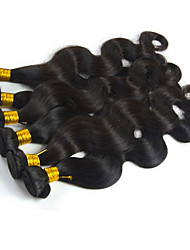 6Bundles/Lot 300g  8-26inch Peruvian Virgin Body Wave Hair Natural Black Wavy Human Hair Weaves