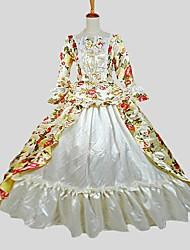 Costumes de Cosplay Costume de Soirée Bal Masqué Gothique Victorien Cosplay Vêtrements Lolita Jacquard Manches Longues Cheville Robe Jupon