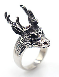 Cute Animal Design Stainless Steel Ring Animal Shape Jewelry ForSpecial Occasion Halloween Anniversary Thank You Gift Daily Casual