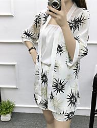 Для женщин Весна Лето Tank Top Брюки Костюмы Глубокий V-образный вырез 1/2 Length Sleeve